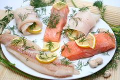 Fish plate Stock Photos