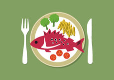 Fish plate Royalty Free Stock Photos