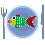 Fish on the plate Royalty Free Stock Image