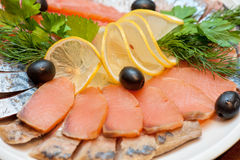 Fish plate Royalty Free Stock Image