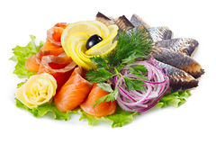 Fish platter Stock Image