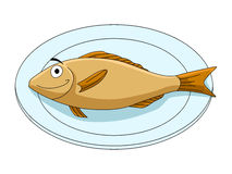Fish on a platter Royalty Free Stock Photos