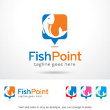 Fish Point Logo Template Design Vector, Emblem, Design Concept, Creative Symbol, Icon Stock Image
