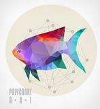 Fish polygonal Royalty Free Stock Image
