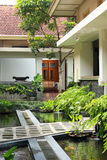 Fish pond garden Stock Image