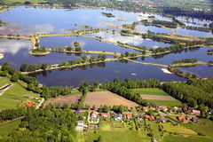 Fish ponds. In  east germany near cottbus Stock Images