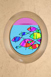 Fish porthole Royalty Free Stock Photo