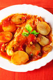 Fish and potato stew Royalty Free Stock Photography