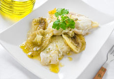 Fish with potatoes. Stock Image