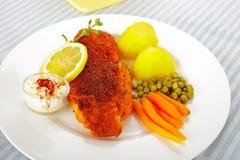 Fish and potatoes Royalty Free Stock Image
