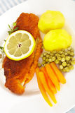 Fish and potatoes Stock Photo