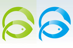 Fish Power. Fish icon showing the power of vector drawing Stock Illustration
