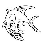 Fish predatory  coloring pages Stock Image