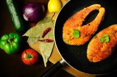 Fish preparation Royalty Free Stock Image