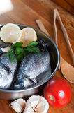 Fish prepared for the grill Royalty Free Stock Photo