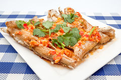 Fish prepared at Thai Royalty Free Stock Photo