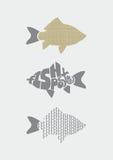 Fish print. Royalty Free Stock Photos