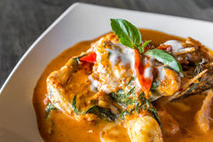Fish with Red Curry Paste Royalty Free Stock Photo