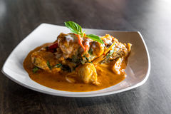 Fish with Red Curry Paste Stock Photography