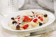 Fish with red pepper Stock Images