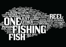 Fish For Reel Text Background  Word Cloud Concept. FISH FOR REEL Text Background Word Cloud Concept Stock Images