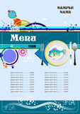 Fish Restaurant (cafe) menu Royalty Free Stock Photos