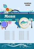 Fish Restaurant (cafe) menu Royalty Free Stock Photos