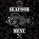 Fish for the restaurant menu. Banner with vector fish for the restaurant menu Stock Images