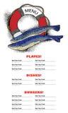 Fish restaurant menu Stock Images