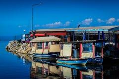 Fish Restaurants Of Yalova City Stock Photos
