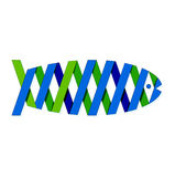 Fish ribbon Stock Image