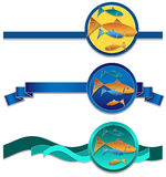 Fish ribbons Stock Image