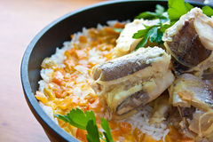fish & rice Royalty Free Stock Images