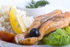 Fish with rice Stock Photography
