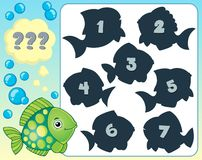 Fish riddle theme image 2 Royalty Free Stock Image