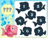 Fish riddle theme image 3 Stock Image