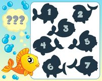 Fish riddle theme image 6 Royalty Free Stock Photos