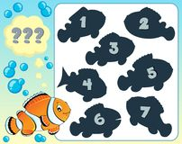 Fish riddle theme image 8 Royalty Free Stock Photo