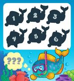 Fish riddle theme image 9 Stock Photography