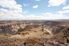 Fish River Canyon. View on a bend in the Fish River Canyon (Namibia stock image