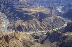 Fish River Canyon. Huge canyon carved out of the desert by the Fish River in Namibia Royalty Free Stock Images