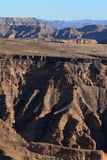 The Fish River Canyon in Namibia Royalty Free Stock Photography