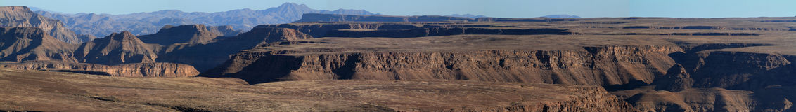 The Fish River Canyon in Namibia Stock Photos