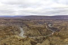 The Fish River Canyon, in Namibia stock photos