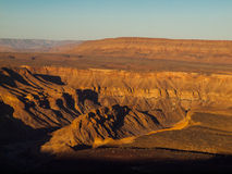 Fish River Canyon. The second largest canyon in the world (Namibia Royalty Free Stock Photography