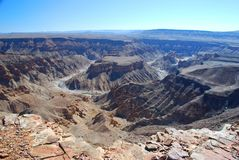 Fish River Canyon. South Namibia Stock Photos