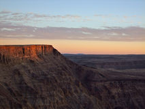 Fish River Canyon Sunset. Fish River Canyon is South Africa is the world\'s second largest Canyon after Grand Canyon Royalty Free Stock Images