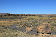 The Fish River in Namibia Royalty Free Stock Photography