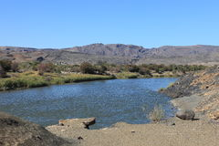 The Fish River in Namibia Stock Images
