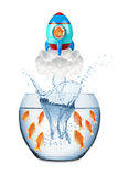 Fish rocket concept Royalty Free Stock Image
